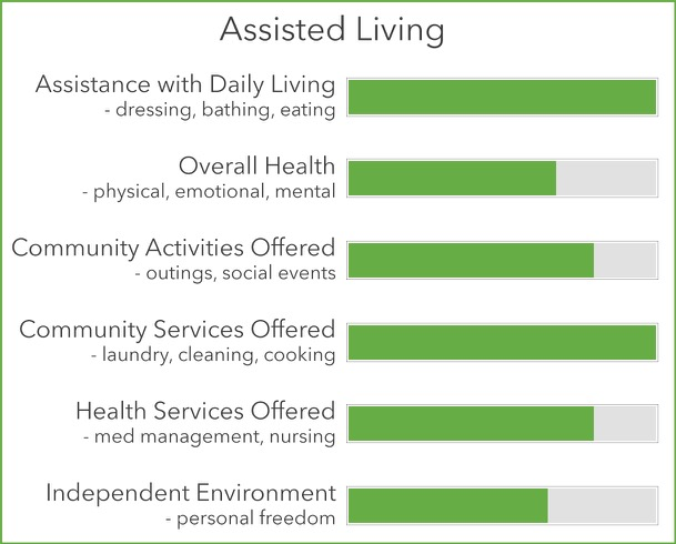 Assisted Living Statistics Chart